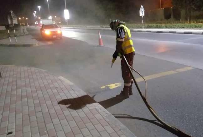 Our Activities, Thermolineroadmarking,Dubai road marking
